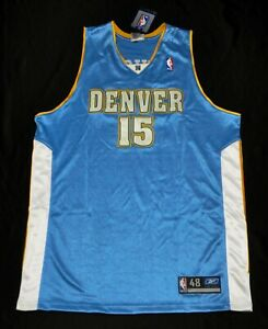 CARMELO ANTHONY MELO DENVER NUGGETS Reebok Authentic Jersey BABY BLUE 48 XL NEW