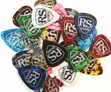 100 x GENUINE ROCKSKOOL PLECTRUMS PICKS in asst colours electric acoustic