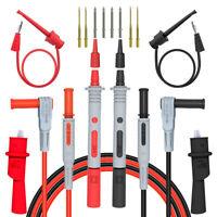 12PCS Multimeter Test Lead Kit Alligator Clip for Fluke Electrical Meter Power