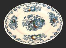 Masons Fruit Basket Blue Bread Plate