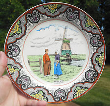 Vintage DUTCH PLATE Windmill HOLLAND MOLENZICHT Societe Ceramique Maestricht