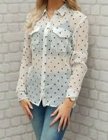 NEW WITH TAGS The Kooples Silk Polka Dot Shirt Blouse Lovely RRP 150EURO