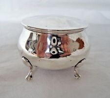 ANTIQUE CHESTER 1913 STERLING / SOLID SILVER JEWELLERY / TRINKET BOX