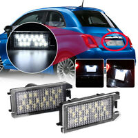 Pair White LED Rear License Plate Light Lamps For Jeep Grand Cherokee 2014-2020