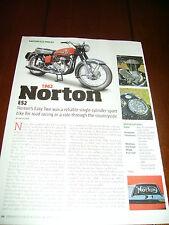 1962 NORTON ES2 490cc AIRCOOLED SINGLE ***ORIGINAL 2014 ARTICLE***