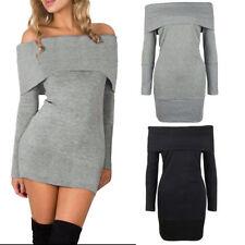 S Langarm Damenkleider aus Baumwollmischung