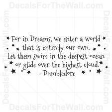 Dumbledore Harry Potter Wall Decal Vinyl Art Sticker Quote Decoration Saying B66