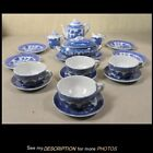 Antique Cragstan 20pc Toy China Dinner / Tea Set Blue Willow Original Box
