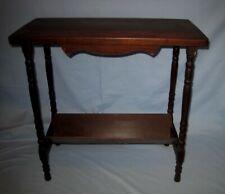 VTG/Antique Dark Wood/Wooden Farm House Table W/Shelf Magazine Rack!