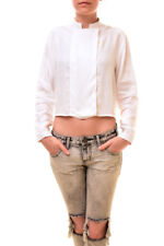 One Teaspoon Women's Authentic Cropped Shirt White Size S RRP $141 BCF85