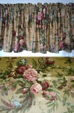Window Valance w New Ralph Lauren Fabric ADRIANA FLORAL BROWN GOLD PINK GREEN