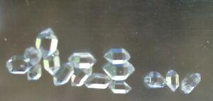 Herkimer Diamanten Doppelenderkristalle 15 Stk.Lnr.746
