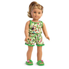 "American Girl LE LEA PAJAMAS for 18"" Dolls Lea's Rainforest Dreams Slippers NEW*"