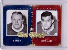 TURK BRODA BILL DURNAN 11/12 ITG Forever Rivals Net Rivals #NR-03 Insert Card