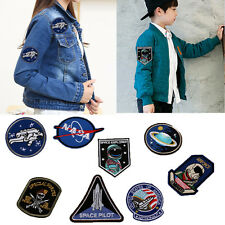 8Pcs/set Astronaut space Embroidery Sew Iron On Patch Badge Bag Clothes Fabric