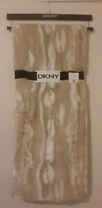 NWT DKNY THROW BLANKET Neutral Beige 50x60 lafayette NEW with tags hanger luxury