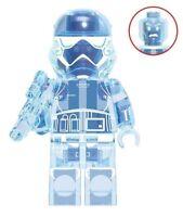 Star Wars Imperial Stormtrooper Blue Transparent Hologram Custom Lego Minifigure