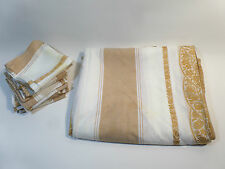ANCIEN LOT DE 12 SERVIETTES ET 1 NAPPE TACHEES 144X240CM 45X45CM