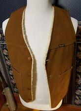 Vintage USA MADE Wrangler Sherpa Lined VEST Water Resistant Ranger Sz M / S