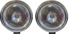 "X2 Pair 9"" Clear White Spot Fog Light Lamp LED Ring 12v 55w H3 Bulbs"