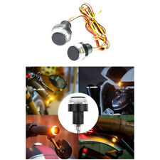 2x Motorcycle Turn Signal LED Light Indicator Blinker Handle Bar End Handlebar