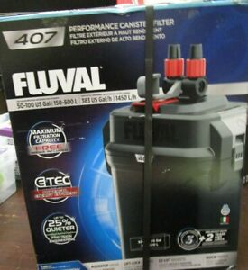 Fluval 407 50-100 US GAL Performance Canister Filter A449 BRAND NEW