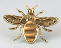 Manchester Bee! QUALITY brass  pin badge brooch jewellery -  Made in Manchester