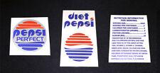 ZURÜCK IN DIE ZUKUNFT Prop PEPSI PERFECT Aufkleber Sticker Set