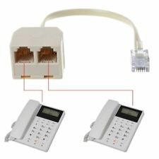 Telephone RJ11 6P4C 1 Male to 2 Female Splitter Adapter RJ11 to RJ11 Separator