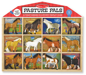 Melissa & Doug Pasture Pals - 12 Collectible Horses With Wooden Barn-Shaped
