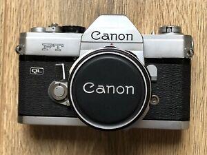 Canon FT QL Film SLR Camera With 50mm f1.8 FL Lens