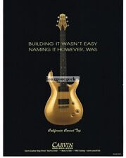 2005 CARVIN California Carved Top Gold Electric Guitar Vtg Print Ad