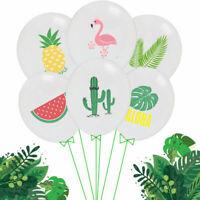 10X Party Supply Set Hawaiian Tropical Party Decor Flamingo Pineapple Balloon