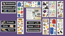 NEW Creative Memories YEARBOOK Sticker Pack, SCHOOL BAG, LOCKER, BOOKS, GRADES
