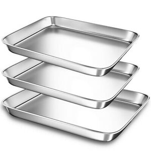 1Pc Baking Sheets Stainless Steel Baking Pans Toaster Oven Tray Pans