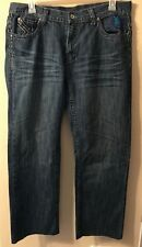 Mens Relaxed Jeans Size 38/34 Dark Denim Wash