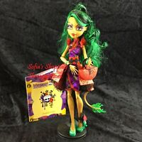 Monster High Gloom and Bloom Jinafire Long Doll Outfit, Shoes, Purse, Diary Lot