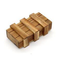 Vintage Secret Compartment Puzzle Lock Box Hidden Drawer Wood Jewelry Stash Safe