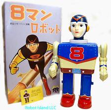 8 Man Robot Eighth Man Tin Toy Robot Battery Operated Yonezawa Style-SALE!
