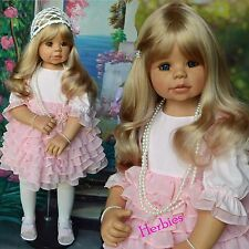 Masterpiece Dolls Kaylee Blonde, Blue Eyes by Monika Levenig 34 Full Vinyl Doll""