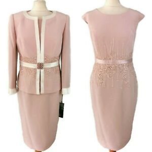 NEW Veni Infantino Size 10 12 Pink Lace Dress with Jacket Mother of The Bride