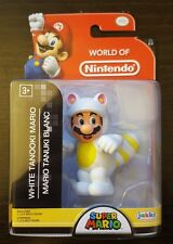World of Nintendo WHITE TANOOKI MARIO Action Figure SEALED Jakks 2.5 Inch 2-3