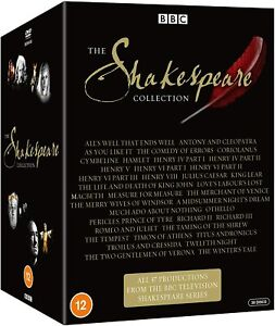 """THE SHAKESPEARE COMPLETE BBC COLLECTION DVD BOX SET 38 DISC R4 """"NEW&SEALED"""""""