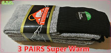 3 Pairs Men's Super Warm Heavy Thermal double Insulated Winter Socks Size 9-15