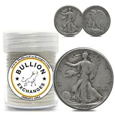 $10 Face Value Walking Liberty Half Dollars 90% Silver 20-Coin Roll (Circulated)