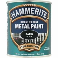NEW HAMMERITE DIRECT TO RUST METAL PAINT SATIN BLACK 750ML 5092829 BEST QUALITY
