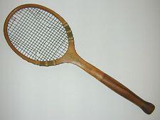 """Wilson """"Collegiate"""" Bulbous Handle Antique Tennis Racquet was Jeanne Cherry's"""