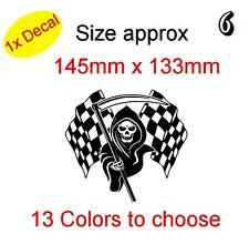 Grim Reaper Funny Graphic Vinyl Decal Sticker Car Laptop Bike etc (REF 6)