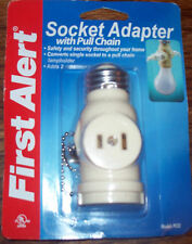 First Alert SOCKET ADAPTER with PULL CHAIN - PCS2 - NIP!