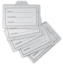 100 pezzi Portabadge tesserino aziendali porta badge plastica con cartellino